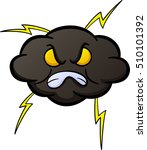 angry cloud cartoon | Shutterstock .eps vector #510101392