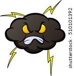 angry cloud cartoon   Shutterstock .eps vector #510101392