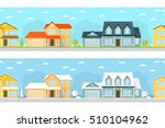 summer and winter town... | Shutterstock .eps vector #510104962