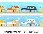 summer and winter town... | Shutterstock .eps vector #510104962