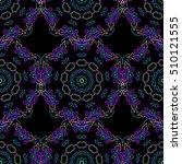 damask seamless floral pattern... | Shutterstock . vector #510121555