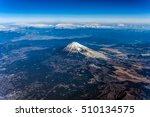 Aerial View Of Mount Fuji...