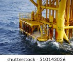 high wave hitting the boat... | Shutterstock . vector #510143026