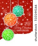 illustration. gold christmas... | Shutterstock . vector #510144166