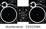 Illustration Of Two Turntables...