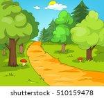 hand drawn cartoon of summer... | Shutterstock . vector #510159478