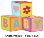 Baby's Letter Cubes Toys  Eps10