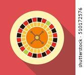 casino roulette icon. flat... | Shutterstock .eps vector #510172576
