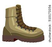 khaki boot icon. cartoon... | Shutterstock .eps vector #510173356