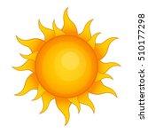 sun icon. cartoon illustration... | Shutterstock .eps vector #510177298
