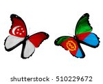 concept   two butterflies with... | Shutterstock . vector #510229672