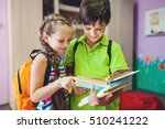 cute kids studying together in... | Shutterstock . vector #510241222