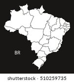 brazil map with districts ... | Shutterstock .eps vector #510259735