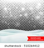 the falling snow and drifts on... | Shutterstock .eps vector #510264412