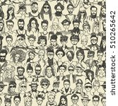 people crowd seamless pattern.... | Shutterstock .eps vector #510265642