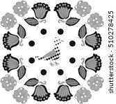 pattern of floral motifs  bird  ... | Shutterstock . vector #510278425