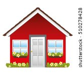 small house icon image  | Shutterstock .eps vector #510278428