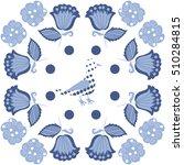 pattern of floral motifs  bird  ... | Shutterstock . vector #510284815