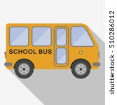 yellow schol bus sign icon....
