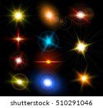 realistic light glare sparkle ... | Shutterstock .eps vector #510291046