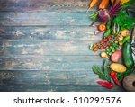 harvest fresh vegetables autumn ... | Shutterstock . vector #510292576
