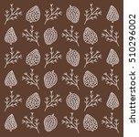 autumn background. fir branches ... | Shutterstock .eps vector #510296002