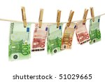 money laundering on clothesline ... | Shutterstock . vector #51029665