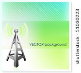 radio tower on vector...   Shutterstock .eps vector #51030223