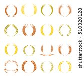 gold laurel wreath   a symbol... | Shutterstock .eps vector #510320128