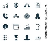 set of management icons on... | Shutterstock .eps vector #510326875