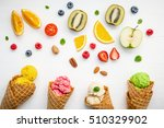 cones and colorful various... | Shutterstock . vector #510329902
