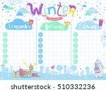 stylish winter planner with...