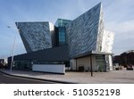 Small photo of BELFAST, UNITED KINGDOM -30 OCT 2016- Opened in 2012 to commemorate the centennial anniversary of the Titanic ship ill-fated voyage, the Titanic Experience is an interactive museum located in Belfast.