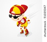 roller skater boy | Shutterstock .eps vector #51035347