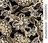 ethnic flowers seamless pattern | Shutterstock . vector #510354592