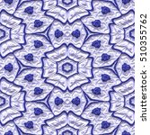 3d seamless floral pattern in... | Shutterstock . vector #510355762