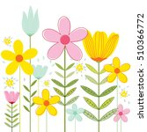template card with spring... | Shutterstock .eps vector #510366772