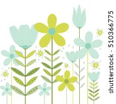 template card with spring...   Shutterstock .eps vector #510366775