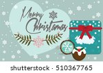 christmas card with cookies and ... | Shutterstock .eps vector #510367765
