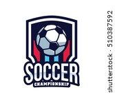 soccer logo  american logo... | Shutterstock .eps vector #510387592