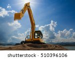 Excavator Model  With Sky And...