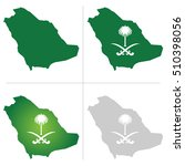 saudi arabia map and national... | Shutterstock .eps vector #510398056