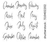 months handwritten modern... | Shutterstock .eps vector #510402202