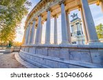 the retiro park is located... | Shutterstock . vector #510406066
