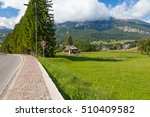 a footpath and road sign on the ... | Shutterstock . vector #510409582