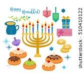 hanukkah jewish holiday... | Shutterstock .eps vector #510410122