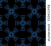 black seamless pattern with... | Shutterstock .eps vector #510411958