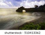 sunset at pura batu bolong ... | Shutterstock . vector #510413362