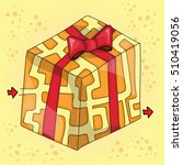 maze game for children   vector ... | Shutterstock .eps vector #510419056