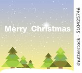 christmas card with christmas... | Shutterstock .eps vector #510425746